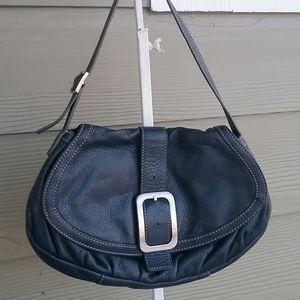 Cole Haan leather handbag navy blue